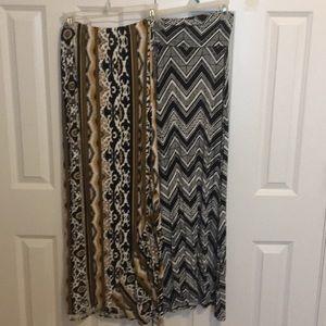 Dresses & Skirts - 2 knit maxi skirts $5!
